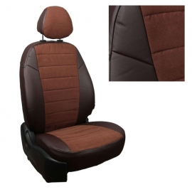 Авточехлы Алькантара Шоколад + Шоколад для Chevrolet Cruze Sd/Hb/Wag