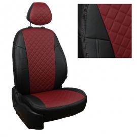 Авточехлы Ромб Черный + Бордовый для Chevrolet Cruze Sd/Hb/Wag