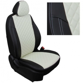 Авточехлы Ромб Черный + Белый для Ford Galaxy II c 06-15г.