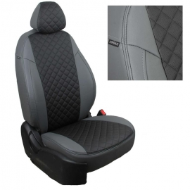 Авточехлы Ромб Серый + Черный для Ford Kuga II c 12г.
