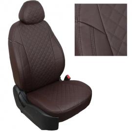 Авточехлы Ромб Шоколад + Шоколад для Mitsubishi Lancer 10 Sd с 11г. (зад. спинка без надкрыльников)