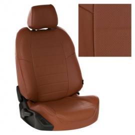 Авточехлы Экокожа Коричневый + Коричневый для Peugeot Partner Tepee Family / Citroen Berlingo II (3 отдельных кресла) с 08г.