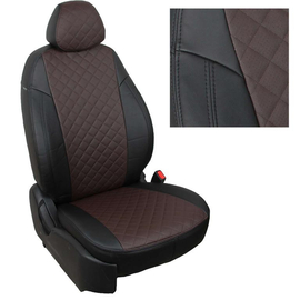 Авточехлы Ромб Черный + Шоколад для Toyota Rav-4 c 13-18г.