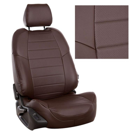 Авточехлы Экокожа Шоколад + Шоколад для Volkswagen Golf Plus с 04-14г. / Tiguan I с 07-16г. (без столиков).