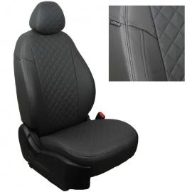 Авточехлы Ромб Темно-серый + Темно-серый для Volkswagen Jetta V Sd c 05-11г. / Golf V и VI с 03-12г.