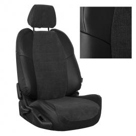 Авточехлы Велюр Черный + Федерер для Hyundai Porter I (3 места)