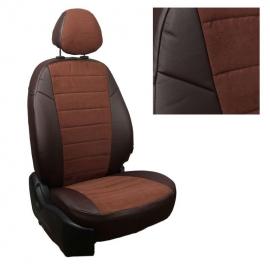 Авточехлы Алькантара Шоколад + Шоколад для Volkswagen Touareg I (за водителем 40%) с 02-10г.