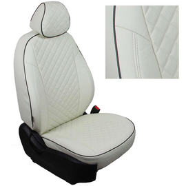 Авточехлы Ромб Белый + Белый для Volkswagen Tiguan II comfortline/highline (со столиками) c 17г.