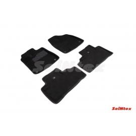 3D коврики для Acura MDX 2014-н.в. цвет Черный