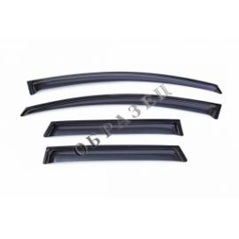 Дефлектора боковых дверей для Nissan Sentra, 14-, SD, 4ч., темный