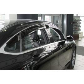 Дефлектора боковых дверей для Mercedes GLC Coupe Class, 16-, 6 ч., темный