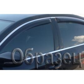 Дефлектора боковых дверей для Volkswagen Tiguan, 08-16, 4ч., темный/хром